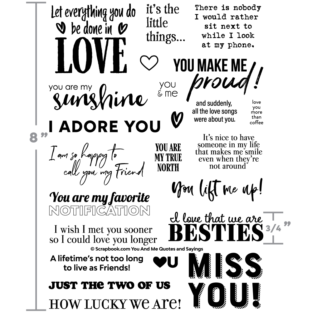 You And Me Quotes And Sayings Designer Stamps