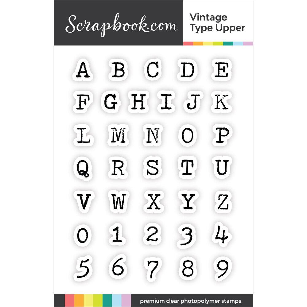 Scrapbook.com Vintage Type Upper Stamp Set