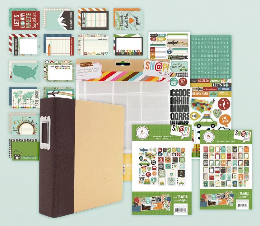 Simple Stories Snap Travel Album Kit