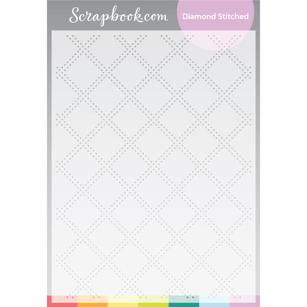 Scrapbook.com Diamond Stitched Stencil 6x8 inch