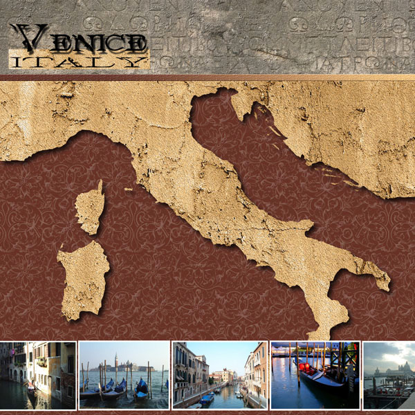 Scrapbook Customs World Collection Italy 12 X 12 Paper Venice