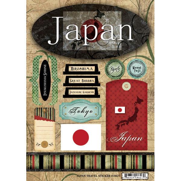 Scrapbook Customs World Collection Japan Cardstock Stickers