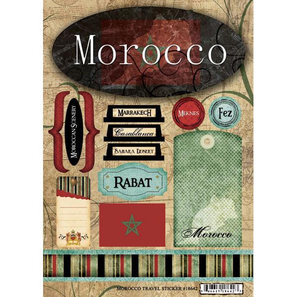 Kingdom of Morocco Travel  #39841 bw 2 x Vinyl Stickers 10cm