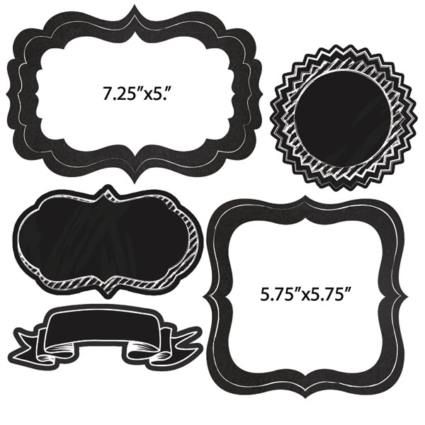 Scrapbook Customs Die Cut Chalkboard Frames Two