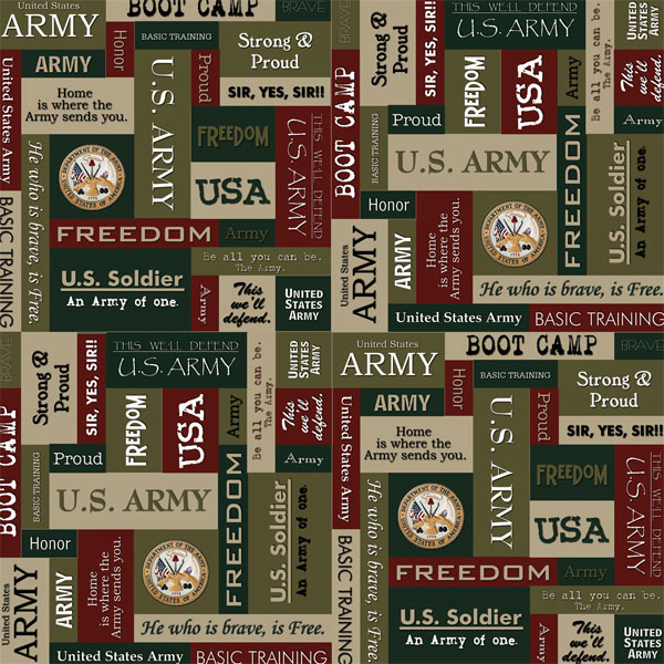 Scrapbook Customs Military Collection 12 X 12 Paper Army Squares
