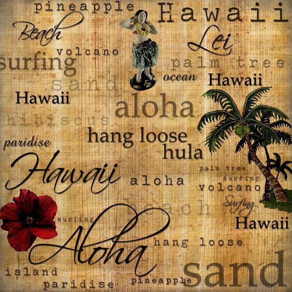 Hawaii Word Clip Art Gallery