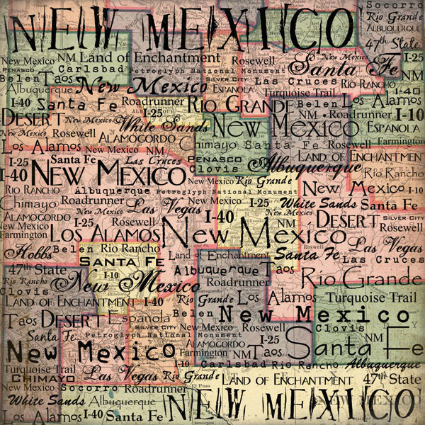 Scrapbook Customs United States Collection New Mexico 12 X 12