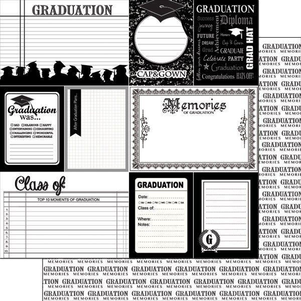 Scrapbook Customs Graduation Collection 12 X 12 Double Sided