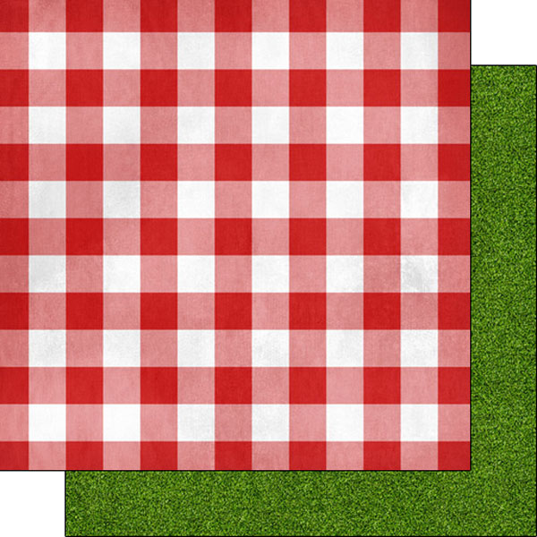 Scrapbook Customs   12 X 12 Double Sided Paper   Picnic Table Cloth