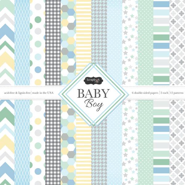 Scrapbook Customs Baby Boy 12 X 12 Paper Pack