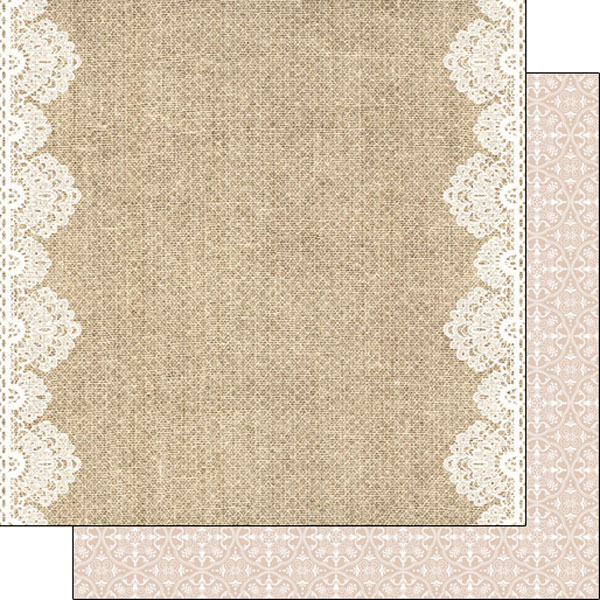 Scrapbook Customs Burlap And Lace Borders Paper