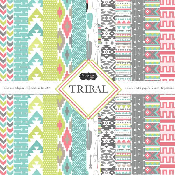 Scrapbook Customs Tribal 12 X 12 Paper Pack