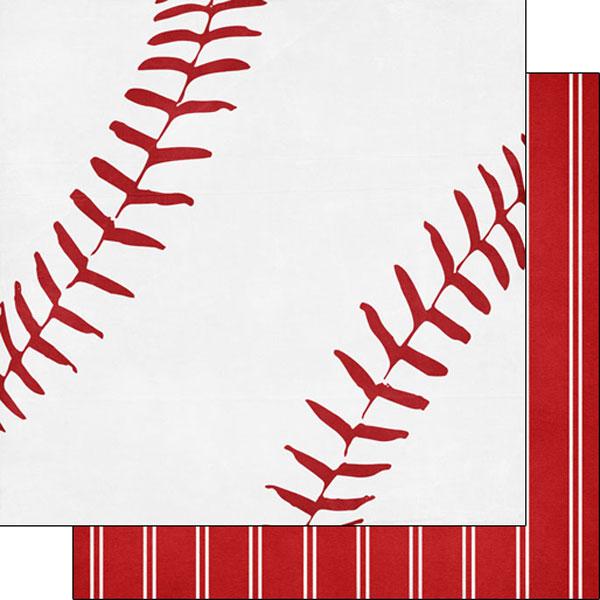 Scrapbook Customs Baseball Life 5 Paper