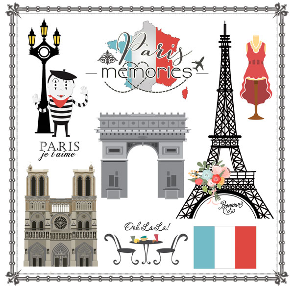 Scrapbook customs travel adventure paris memories cut out - Boutique scrapbooking paris ...