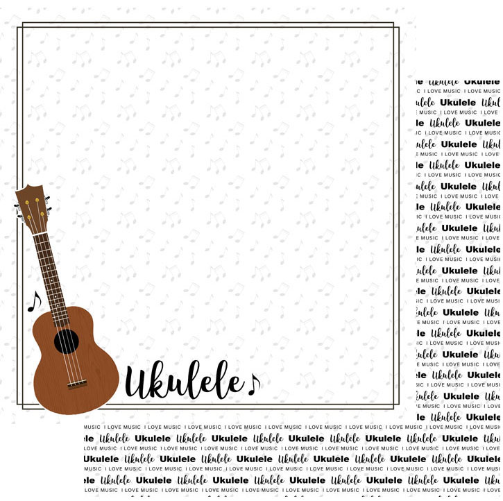 Scrapbook Customs Music Notes Ukulele Notes Paper