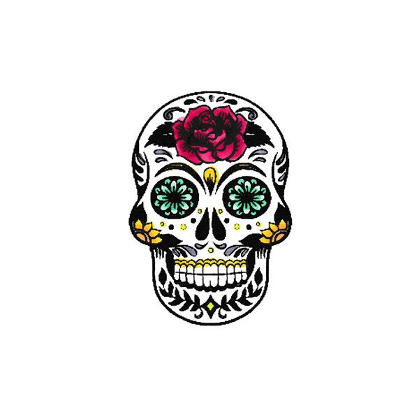 Scrapbook Customs Flowered Skull Rubber Stamp