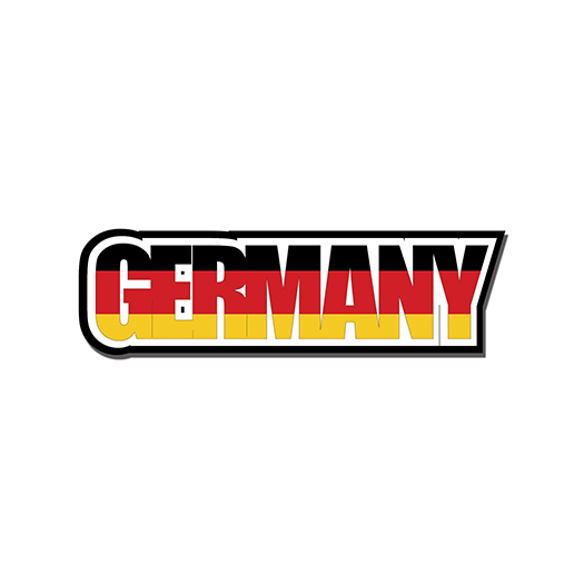 Scrapbook Customs Travel Photo Journaling Flag Word Laser Cut Germany