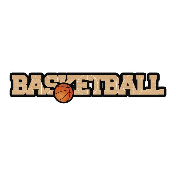 scrapbook customs basketball laser cut dimensional word
