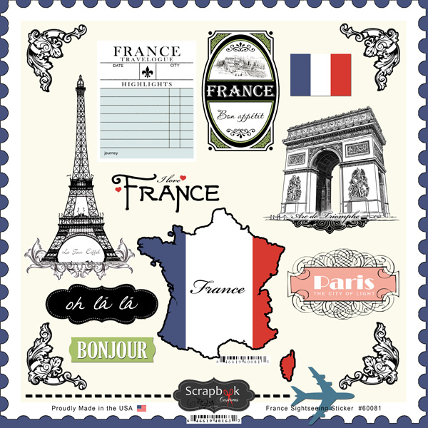 Scrapbook customs france sightseeing stickers - Boutique scrapbooking paris ...