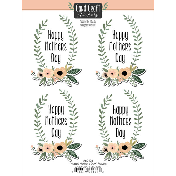 scrapbook customs happy mothers day flowers card craft stickers