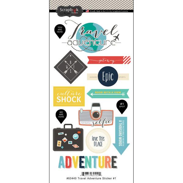 Scrapbook Customs Travel Adventure One Stickers