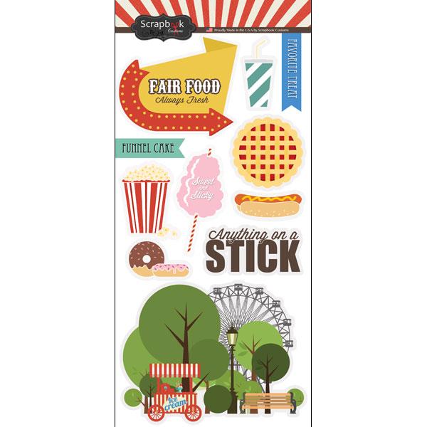 Scrapbook customs fun at the fair fair food stickers for Scrapbooking cuisine