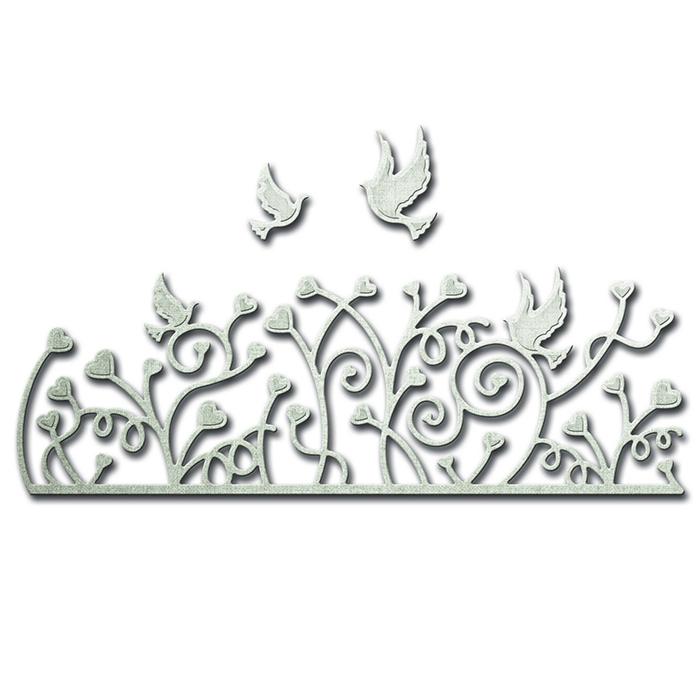 spellbinders hearts a flutter decorative strips shapeabilities die