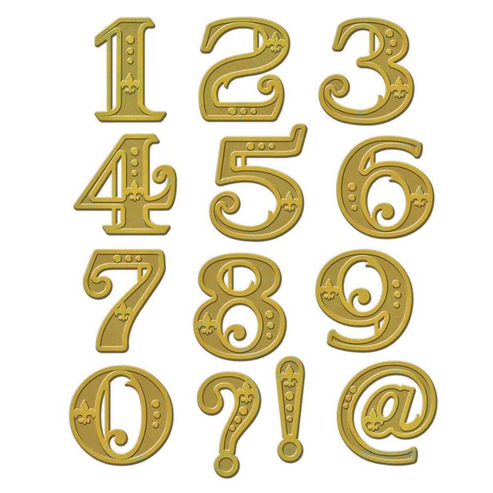 Spellbinders Victorian Numbers Shapeabilities Die