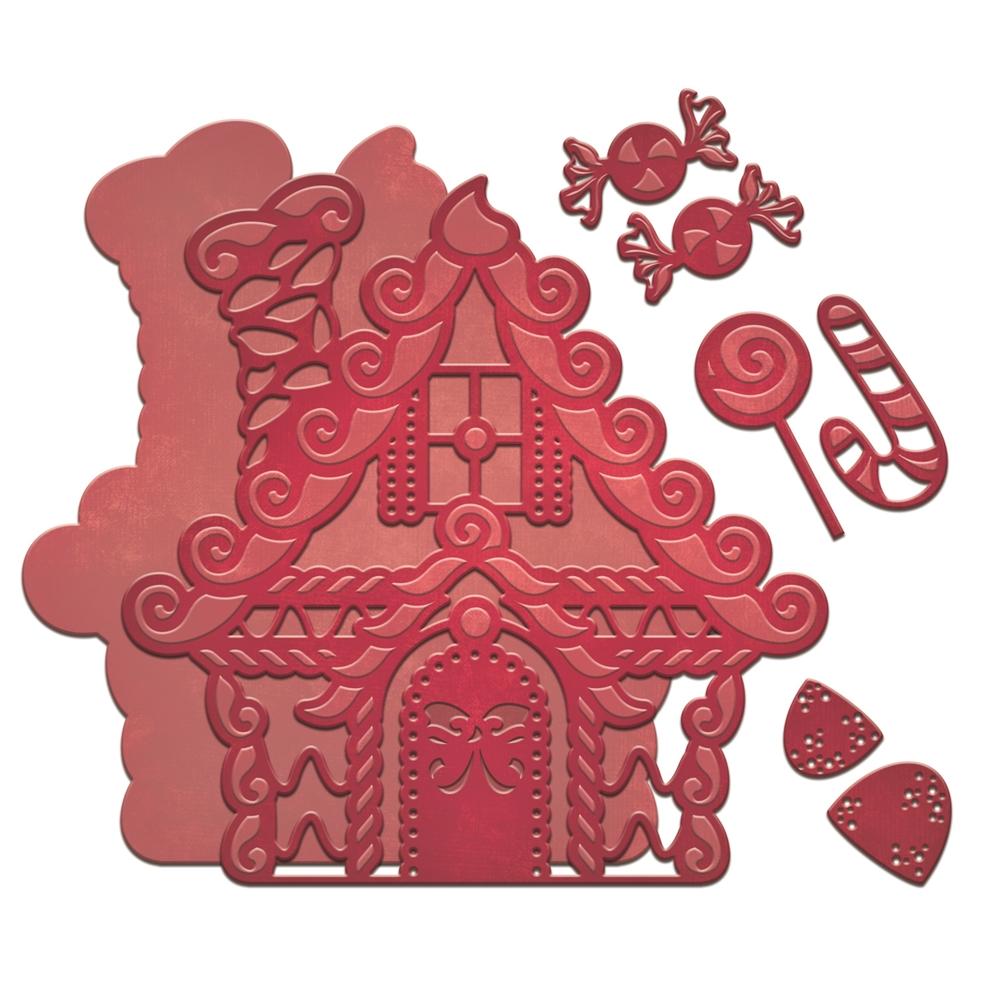 Spellbinders Holiday Gingerbread House Shapeabilities Die