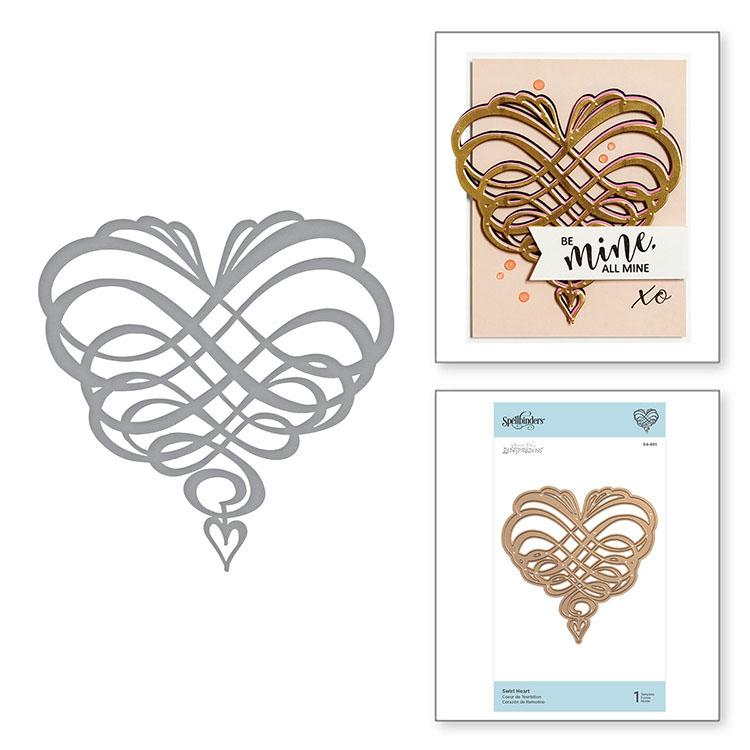 SHAPEABILITIES SWIRL HEART ETCHED DIES ON THE WINGS OF LOVE COLLECTION BY JOANNE FINK
