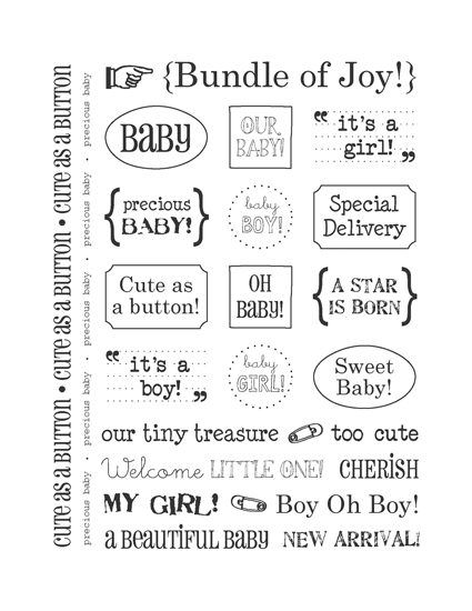 srm press inc card collection stickers sentiments baby