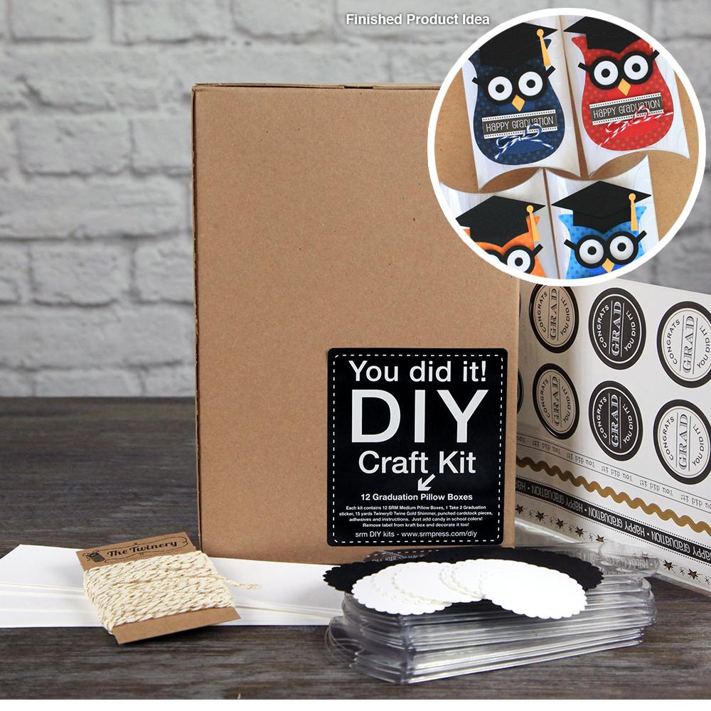 Srm Press Inc Graduation Pillow Boxes Diy Craft Kit