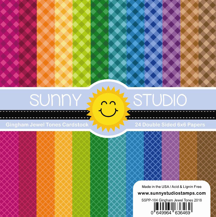 Sunny Studio Stamps Gingham Jewel Tones Paper