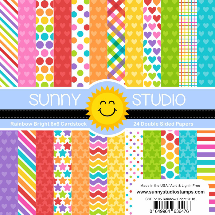 Sunny Studio Stamps Rainbow Bright Papers