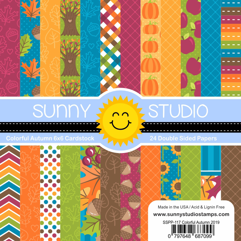 Sunny Studio Stamps Colorful Autumn 6x6 Paper Pack