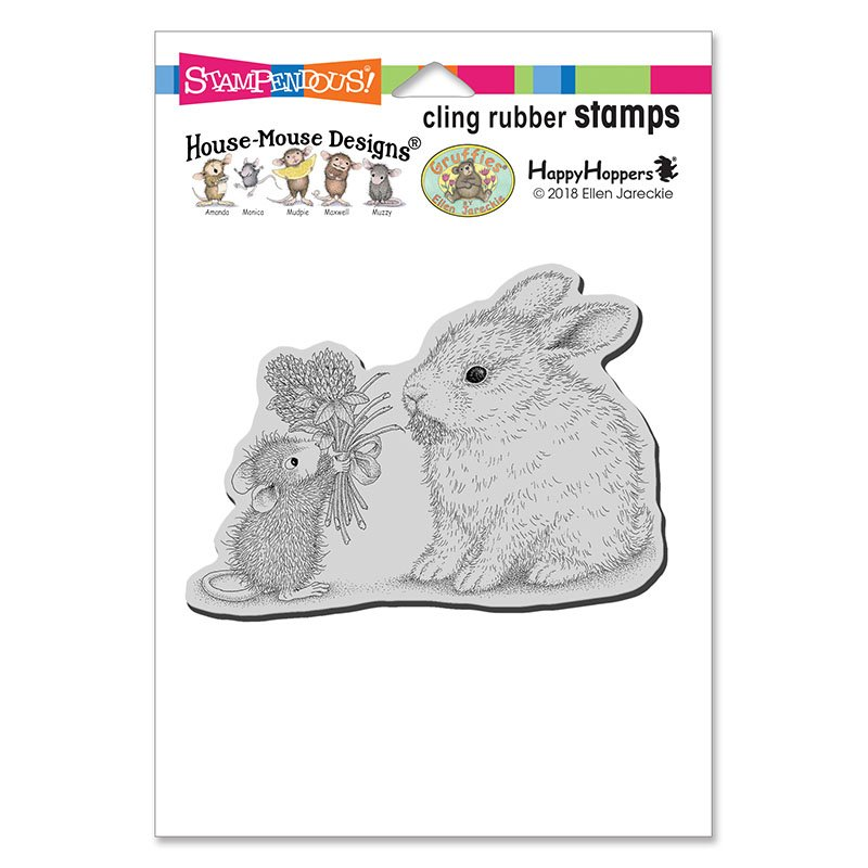 STAMPENDOUS House Mouse Cling Rubber Stamp Crocus Nap