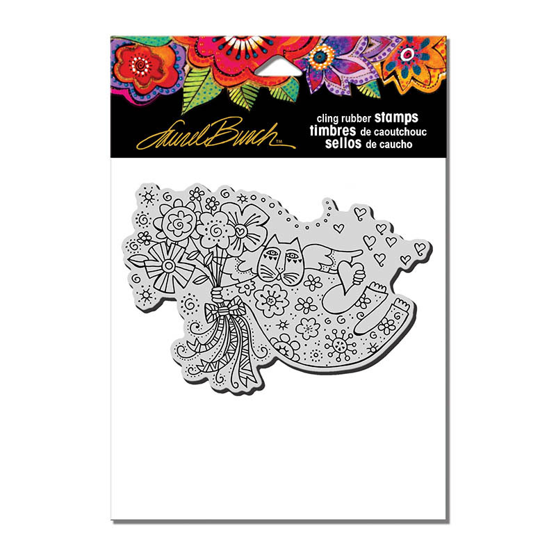 Stampendous Love Cat Angel Stamp