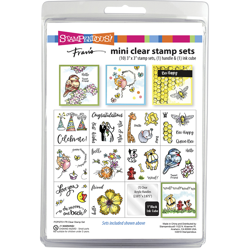 STAMPENDOUS Fran/'s CLEAR STAMPS /& DIE SET MERMAID /& FRIENDS Turtle Fish