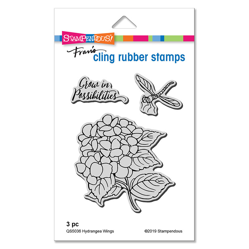 Dragonfly Wings Stampendous Wood Stamp