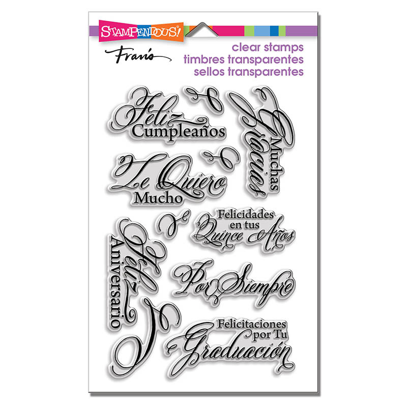 Stampendous spanish greetings stamps stampendous clear acrylic stamps spanish greetings m4hsunfo
