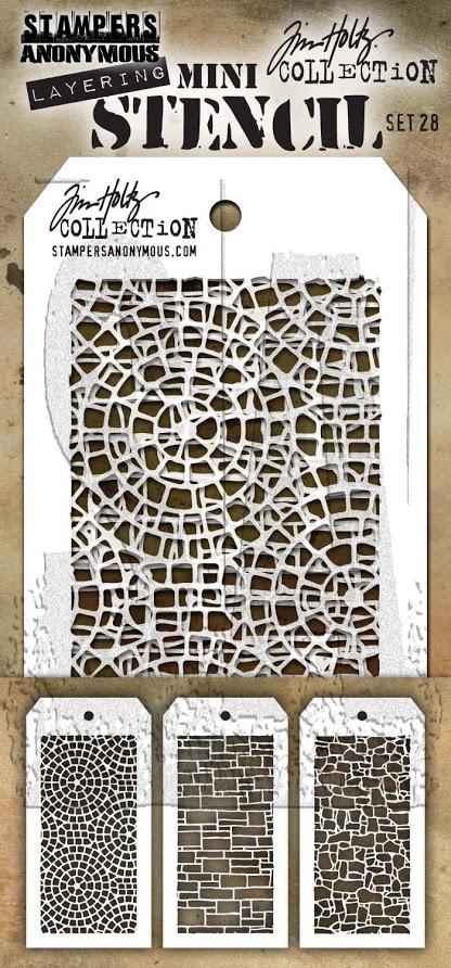 Tim Holtz Mini Layering Stencil Set #28