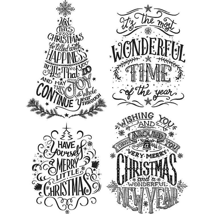 stampers anonymous tim holtz christmas cling mounted rubber stamp set doodle greetings 2 - Christmas Stamp
