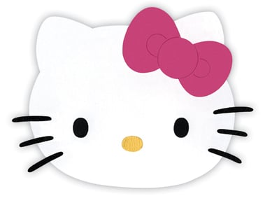 Sizzix originals die hello kitty collection die for Hello kitty cut out template
