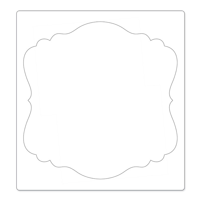 Sizzix Ornate Square 3 Bigz Pro Die Cutting Template