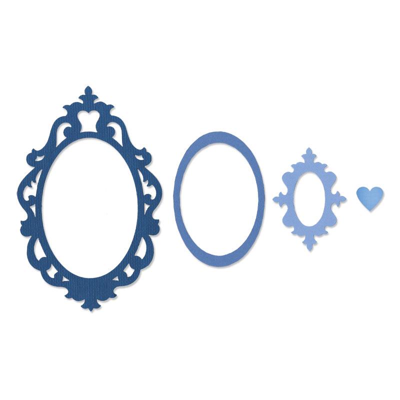 Sizzix Fancy Oval Frame Framelits Die