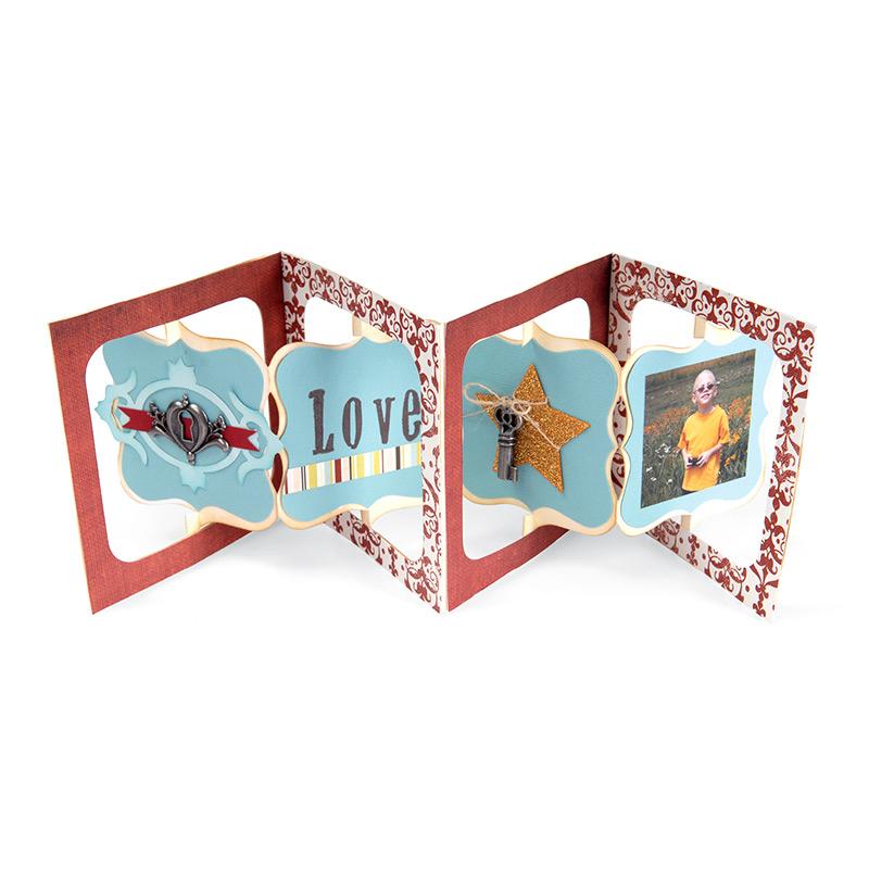sizzix accordion flip 3d album bigz die cutting template. Black Bedroom Furniture Sets. Home Design Ideas