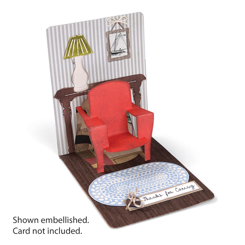 Sizzix 3d Pop Up Chair Magnetic Die Cutting Template