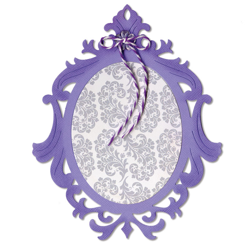 sizzix thinlits die frame ornate oval