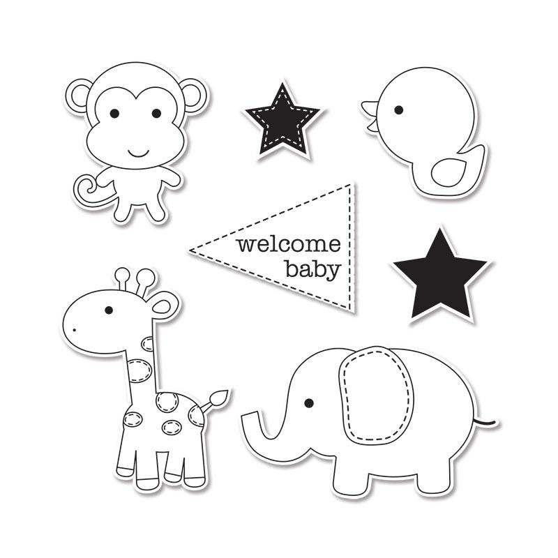 Sizzix Doodlebug Baby Boy Framelits Die And Stamp Set