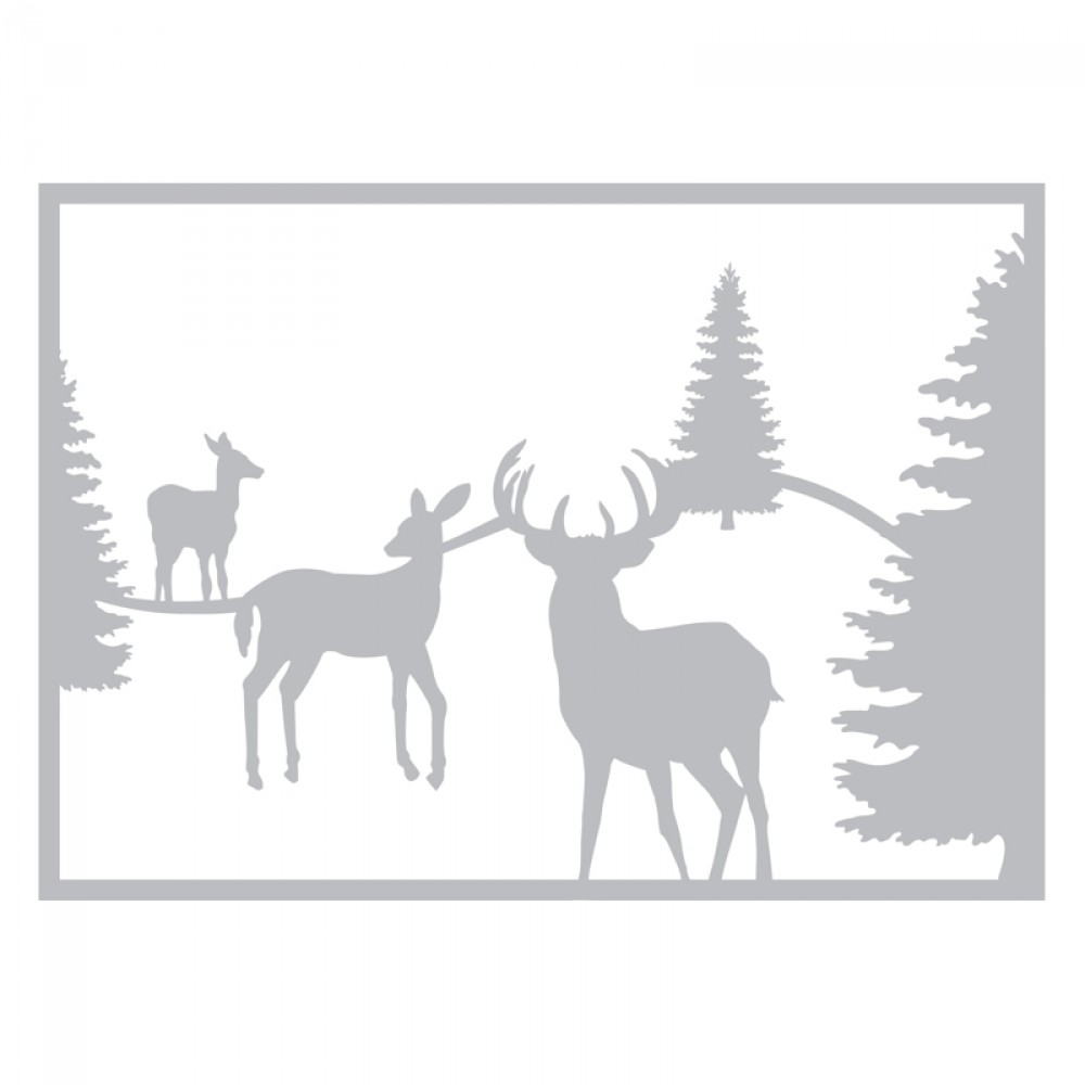 Image result for sizzix winter deer scene die